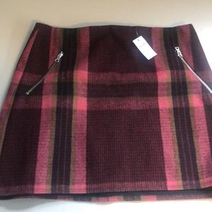GAP Wool Glannel Mini Skirt in pink Plaid Multi